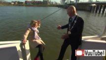 Reporter Falls In Water