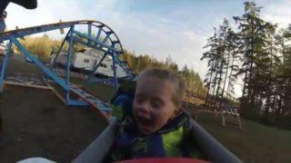 Back Yard Roller Coaster – Wyatt's First Ride thumbnail