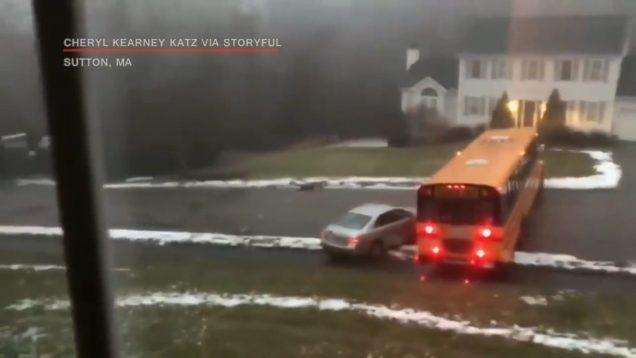 Car vs Snow Compilation of Ridiculous Car Crash and Slip 2018 Car Slide Winter Weather thumbnail 1