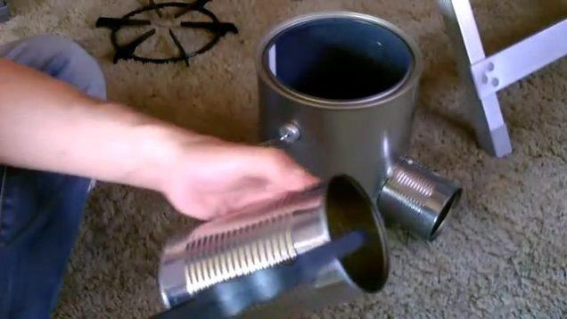 Homemade TIN CAN Rocket Stove – DIY Rocket Stove – Awesome Stove! – EASY instructions! thumbnail