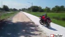 Crazy Monkey Attacks Biker In Cambodia thumb0