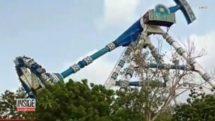 Theme Park Pendulum Ride Snaps in Midair thumb2