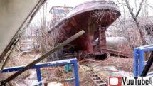 ABANDONED Ship Graveyard with 100 million dollar yacht thumb2